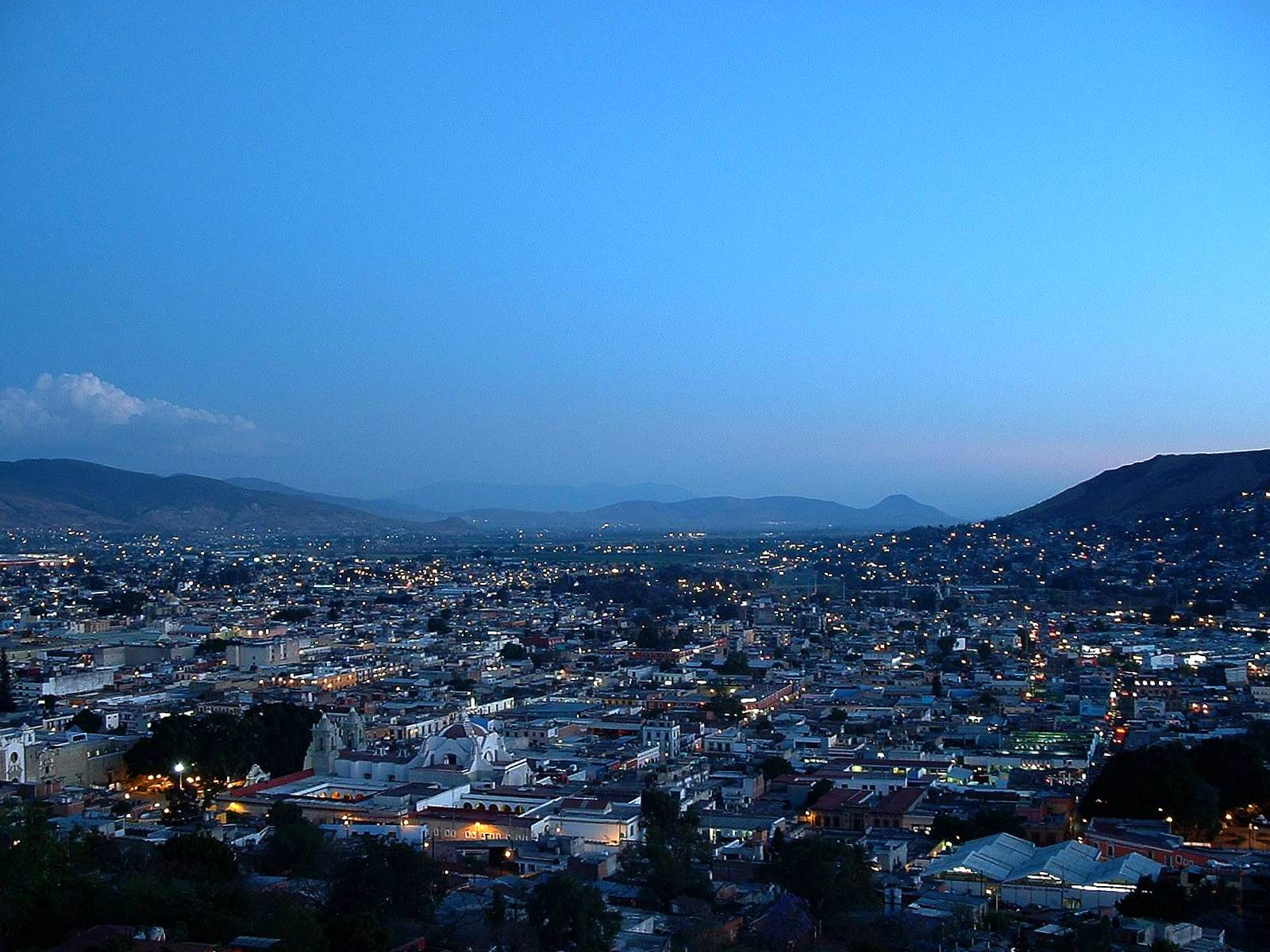 Oaxaca at twilight